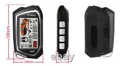 2-Way 12V Keyless Entry Engine Remote Control Door Lock Car LCD Alarm System Kit