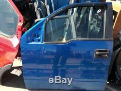 2009-2014 Ford F150 Driver Front Door Electric WithO Keyless Entry Pad Blue