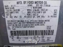 2009-2014 Ford F150 Driver Front Door Electric WithO Keyless Entry Pad Silver