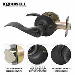 3 Pack Front Entry Door Handle Lock Set with Single Cylinder Deadbolt Exterior D