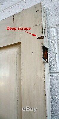 34x75x2 Antique 1854 Vintage SOLID Wood Wooden Exterior Front Entry Door Panel