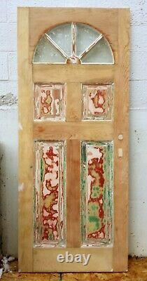 36x79x1.75 Antique Vintage Old SOLID Wood Wooden Exterior Front Entry Door