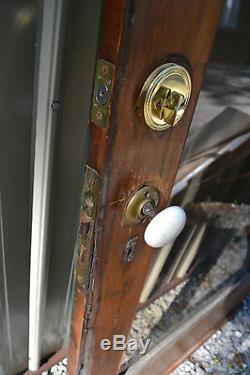 Antique Victorian Glass Exterior front Entry Wood Door Jewelery store 82 x 351/2