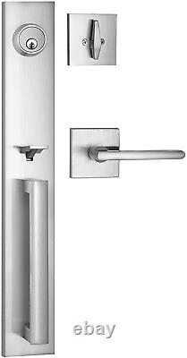 Berlin Modisch Full Escutcheon Handleset Front Door Entry Handle And Deadbolt Lo