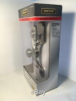 Defiant Springfield Single Satin Nickel Front Door Entry Set Lock Knob Deadbolt