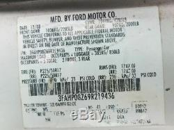 Driver Front Door With Keyless Entry Pad Hole Fits 06-12 FUSION 950283