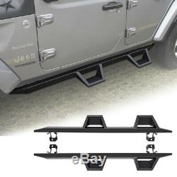 Drop Down Side Steps Off Road Door Entry Guards for Jeep Wrangler JL 4 Doors