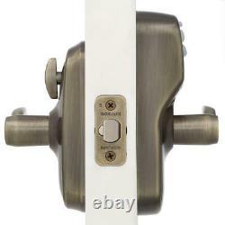 Electronic Door Lock Handle Set Antique Brass Front Entry Keypad Keyless Code