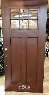 Exterior Front Entry Door, Craftsman Oak (Prefinished) 6 LTE Tempered Glass Pane