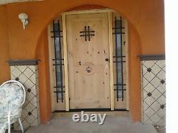 Exterior RUSTIC Entry Door 36 x 80 Knotty Alder Wood PREHUNG FRONT DOOR