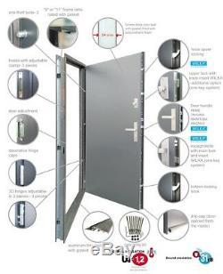 Fargo 19DB external front door with sidelites / exterior front entry door