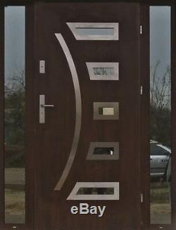 Fargo 23 T stainless steel door with sidelite / exterior front entry doors