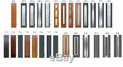 Fargo 9DB front doors with sidelites / exterior front entry door