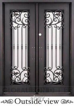 Iron door, wrought iron, ornamental, entry, front, exterior door, 61 1/2 x 81