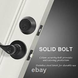 KNOBWELL 5 Pack Front Entry Door Handle Lock Set Exterior Door Lock Set with