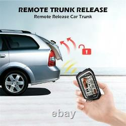 Keyless Entry Central door Locking Trunk Release Warning Security Alarm Car Kit