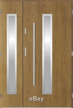 Magellan Duo exterior double entry door / security composite solid front door