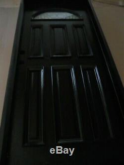 NEW Brazilian Mahogany Entry Door Exterior Front Door Iron Arch Window 36X80