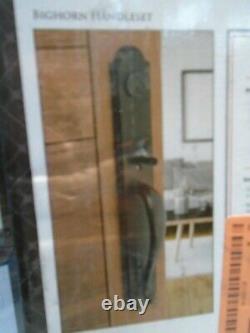 New Baldwin Bronze Bighorn Front Entry Door Lock Set Carnaby Knob Interior Lever