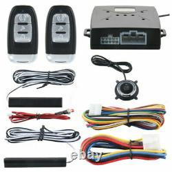 PKE Car Alarm System Passive Keyless Entry Push Button Start/Stop Remote Engine