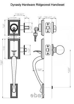 Satin Nickel Lock Knob Set Front Hardware Key New Entry Door Handle Handleset