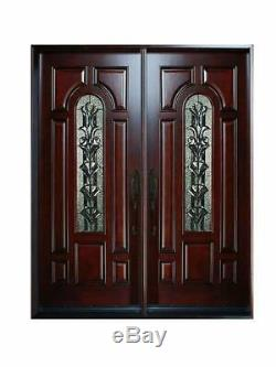 Solid Wood Front Entry Double Door Pre-hung Exterior Door