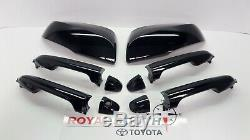 Toyota Tacoma Double Cab Black 218 Door Handles & Mirror Kit with Smart Entry