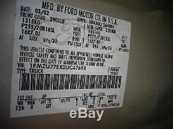 02 Ford Explorer Gauche Pilote Sans Clé D'entrée Porte Avant Super Clean Miroir Super