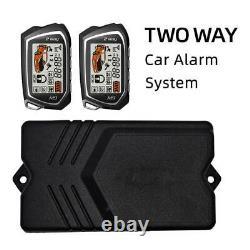 2 Voies LCD Entrée Sans Clé 12v Alarme De Voiture Système De Sécurité Multi-canal +2 Télécommandes