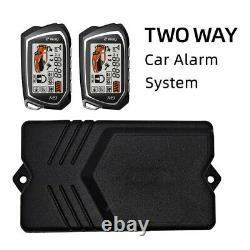 2-way 12v Moteur D'entrée Sans Clé Télécommande Serrure De Porte Voiture Système D'alarme LCD