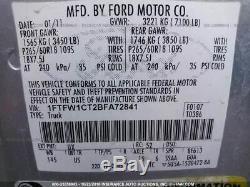 2009-2014 Ford F150 Conducteur Porte Avant Électrique Witho Entrée Sans Clé Tapis D'argent