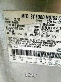 2009-2014 Ford F150 Conducteur Porte Avant Électrique Witho Entrée Sans Clé Tapis Gris
