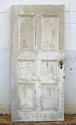 34x75x2 Antique Vintage 1854 En Bois Massif En Bois Extérieur Façade Entrée Panneau De Porte