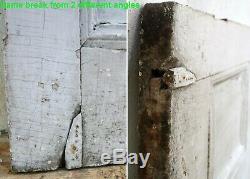 36x76x2 Antique Vintage 1854 En Bois Massif En Bois Extérieur Façade Entrée Panneau De Porte
