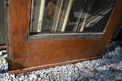 Antique Avant Victorienne Verre Extérieur Magasin Entrée Porte En Bois 82 X 351/2 Bijoux