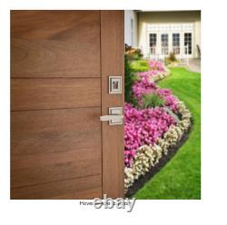 Baldwin Torrey Pines Satin Nickel Single Cylinder Entry Front Door Handleset