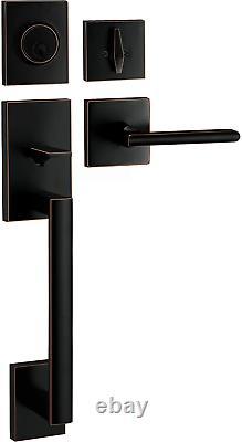 Berlin Modisch Handleset Poignée D'entrée De Porte D'entrée Et Deadbolt Lock Set Slim Squa