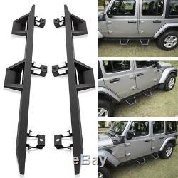 Drop Down Side Steps Plaque D'assemblage Porte D'entrée Garde Pour Jeep Wrangler 4 Portes Jl