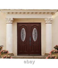Entrée Extérieure Porte Avant Montrouge Style Double Porte Solide Bois-ovale