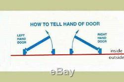 Façade Entrée Simple Porte Extérieure En Fibre De Verre Prémontée Et Porte Fini 36 × 80
