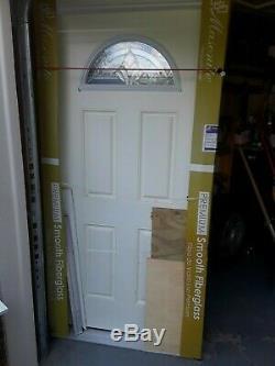 Façade Entrée Simple Porte Extérieure En Fibre De Verre Prémontée & F Unfinished Porte 36 × 80
