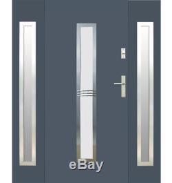 Fargo 12a Porte D'entrée T Externe Avec Panneaux Latéraux Extérieurs / Porte D'entrée Avant
