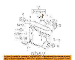 Jeep Chrysler Oem 07-17 Wrangler Porte D'entrée Porte Blanche 5143553aa