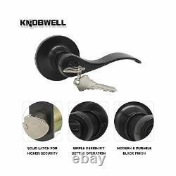 Knobwell 5 Pack Entrée Avant Poignée Poignée De Verrouillage Ensemble De Verrouillage De Porte Extérieure