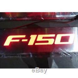 Led Rouge 4 Portes En Acier Inoxydable Plaque Porte Sill Scuff Garde D'entrée Pour Ford F150