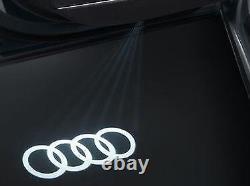 Nouvelle Audi A8 4h D4 Led Entry Light Set'ring' Logo 4g0052133g Oem