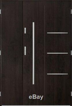 Pires Uno Entrée Composite Contemporare Large D'entrée Porte D'entrée Extérieur
