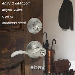 Poignée De Porte D'entrée Avant Serrure Extérieure Serrures Extérieures Simple &double Cylindre Deadbolt