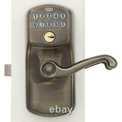 Poignée Électronique De Serrure De Porte Ensemble Antique En Laiton Entrée Avant Keypad Keyless Code