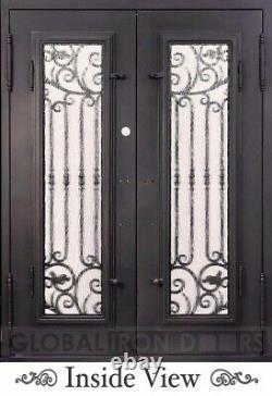 Porte En Fer, Fer Forgé, Ornemental, Entrée, Avant, Porte Extérieure, 61 1/2 X 81